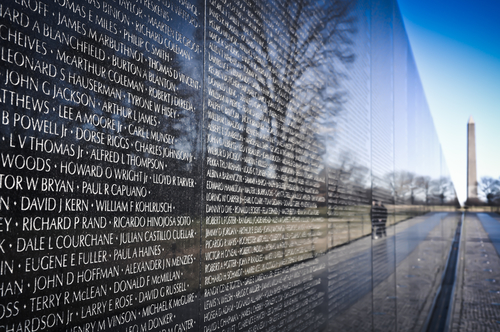 Vietnam Veterans Memorial in Washington D.C.